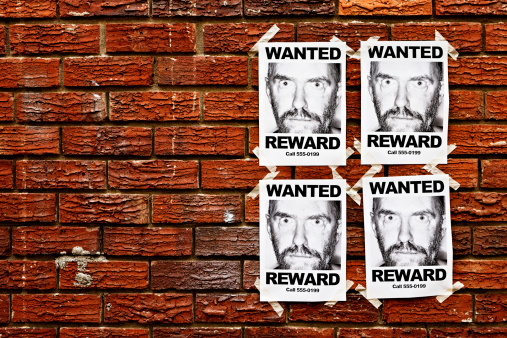 "Beard「Four ""Wanted"" posters of scary looking man taped to wall」:スマホ壁紙(15)"