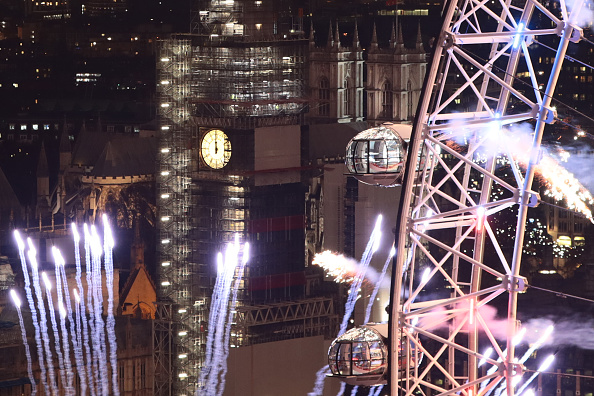 Millennium Wheel「London Fireworks See In The New Year」:写真・画像(13)[壁紙.com]