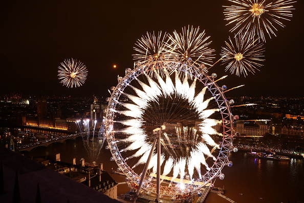 Millennium Wheel「London Fireworks See In The New Year」:写真・画像(3)[壁紙.com]