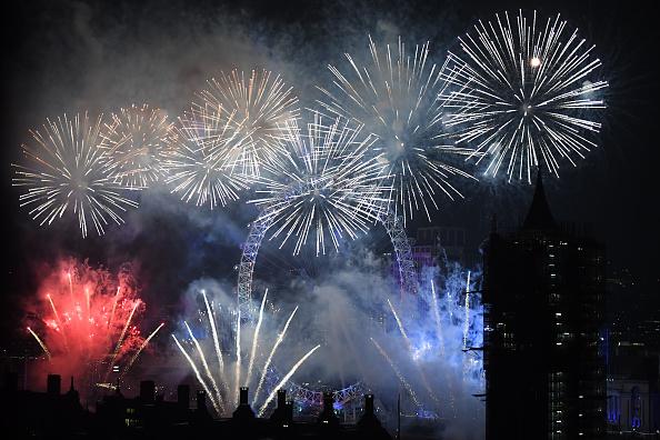 Westminster Abbey「New Year Celebrations In London」:写真・画像(9)[壁紙.com]