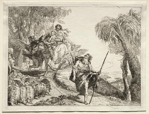 Etching「Flight Into Egypt: The Holy Family And The Flock Of Sheep. Creator: Giovanni Domenico Tiepolo (Italian」:写真・画像(12)[壁紙.com]
