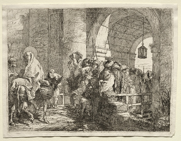 Etching「Flight Into Egypt: The Holy Family Passing Under An Arch. Creator: Giovanni Domenico Tiepolo (Italian」:写真・画像(13)[壁紙.com]