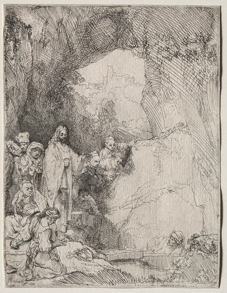 Etching「The Raising Of Lazarus: Small Plate」:写真・画像(13)[壁紙.com]