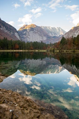 Austria「Lake and mountain range, Golling, Salzburg, Austria」:スマホ壁紙(7)