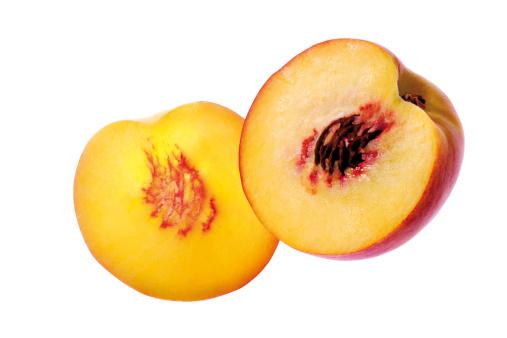 Peach「'Sliced peach, close-up'」:スマホ壁紙(14)