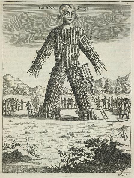 Men「Wicker man (from Britannia Antiqua Illustrata by Aylett Sammes), 1676」:写真・画像(5)[壁紙.com]
