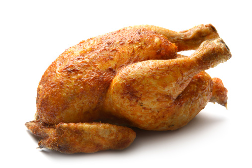 Chicken Meat「Poultry: Roast Chicken Isolated on White Background」:スマホ壁紙(16)