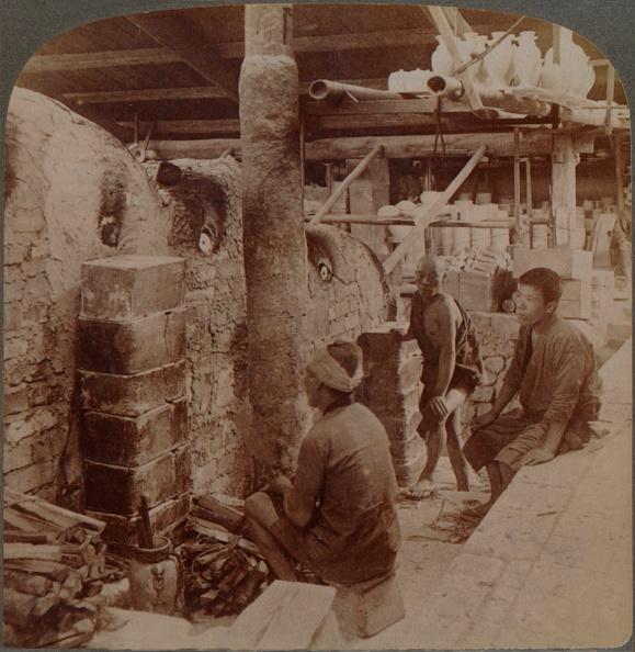 Porcelain「'Workmen Watching Kilns Of Precious Awata Porcelain, In Kinkosan Works, Kyoto, Japan', 1904.」:写真・画像(5)[壁紙.com]