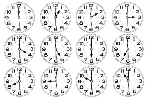 Sequential Series「Clocks」:スマホ壁紙(14)