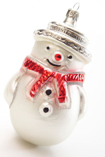 雪だるま「Snowman Christmas ornament, close-up」:スマホ壁紙(5)