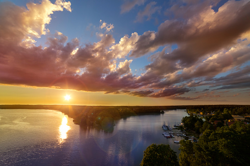 Buoy「Vacations in Poland - Sunset over Golun lake in Kaszuby land, Pomorskie province」:スマホ壁紙(6)