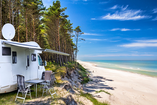 Outdoor Chair「Vacations in Poland - camper in Baltic seashore  around Leba resort in Pomorskie province」:スマホ壁紙(15)