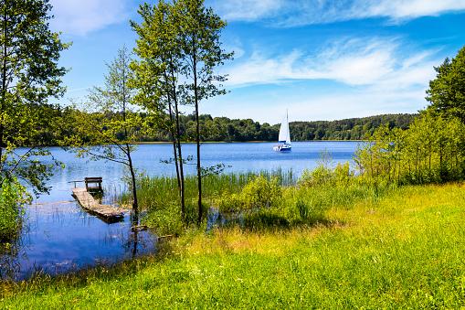 West Pomeranian Voivodeship「Vacations in Poland - Summer view of bay of the Drawsko lake」:スマホ壁紙(7)