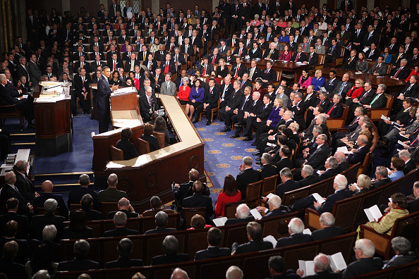Joint Session of Congress「Obama Delivers State Of The Union Address To Joint Session Of Congress」:写真・画像(7)[壁紙.com]