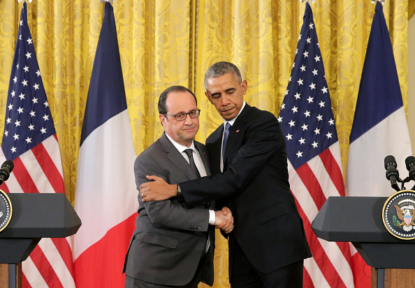 Chip Somodevilla「President Obama Meets With French President Hollande At The White House」:写真・画像(6)[壁紙.com]