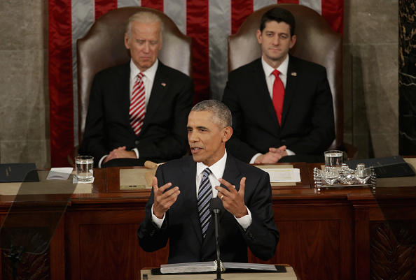 Alex Wong「President Obama Delivers His Last State Of The Union Address To Joint Session Of Congress」:写真・画像(15)[壁紙.com]