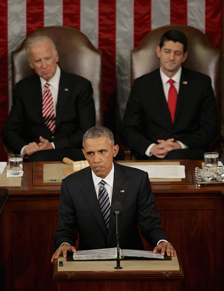 Alex Wong「President Obama Delivers His Last State Of The Union Address To Joint Session Of Congress」:写真・画像(7)[壁紙.com]