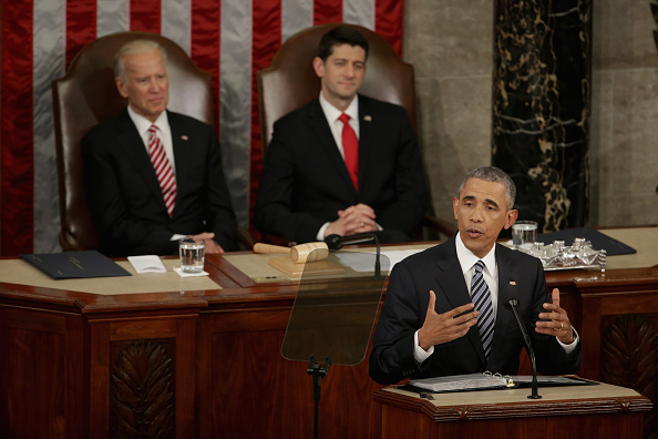 Alex Wong「President Obama Delivers His Last State Of The Union Address To Joint Session Of Congress」:写真・画像(14)[壁紙.com]