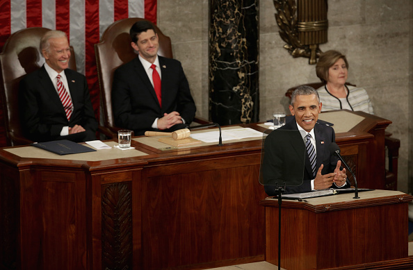 Alex Wong「President Obama Delivers His Last State Of The Union Address To Joint Session Of Congress」:写真・画像(13)[壁紙.com]