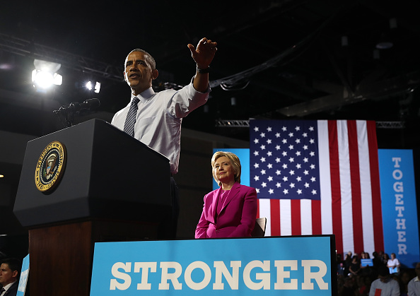 Secretary Of State「President Obama Campaigns With Hillary Clinton In Charlotte」:写真・画像(8)[壁紙.com]