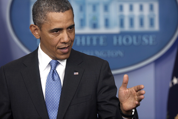 One Person「President Obama Takes Questions From The Press During News Conference」:写真・画像(18)[壁紙.com]