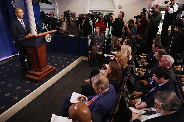 Press Room「President Obama Holds Press Conference At The White House」:写真・画像(11)[壁紙.com]