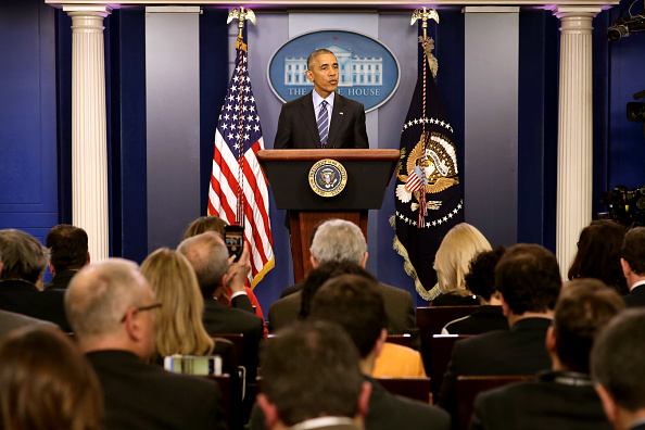 Press Room「President Obama Holds Year-End Press Conference At The White House」:写真・画像(4)[壁紙.com]