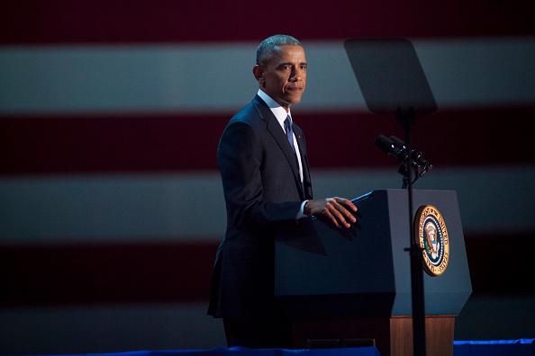 Speech「President Obama Delivers Farewell Address In Chicago」:写真・画像(1)[壁紙.com]