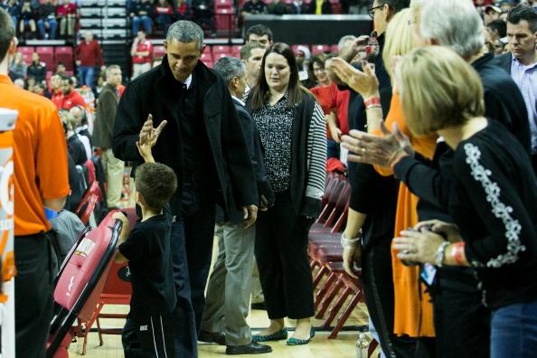 Oregon - US State「The Obama Family Watches U. Maryland v. Oregon State Basketball Game」:写真・画像(14)[壁紙.com]