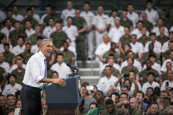 Speech「U.S. President Barack Obama Visits Marine Corps Air Station In Iwakuni」:写真・画像(3)[壁紙.com]