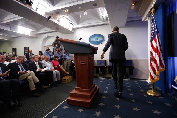 Press Room「President Obama Delivers Statement At The White House」:写真・画像(9)[壁紙.com]