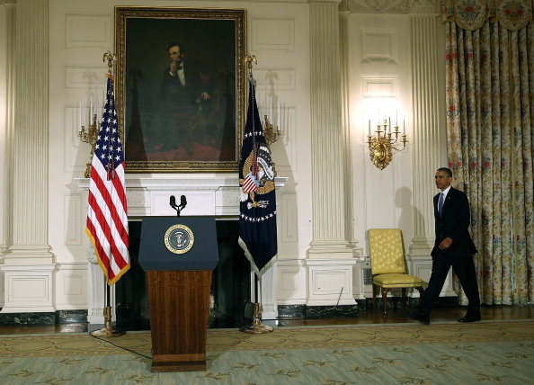 Lectern「President Obama Gives Statement On The Deadly Oklahoma Tornadoes」:写真・画像(18)[壁紙.com]