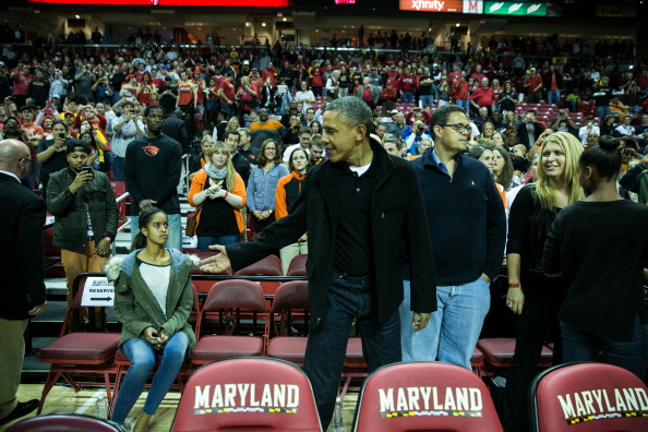 Oregon - US State「The Obama Family Watches U. Maryland v. Oregon State Basketball Game」:写真・画像(19)[壁紙.com]