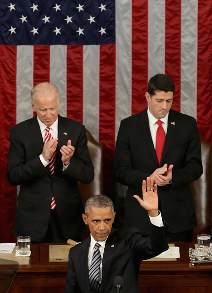 Alex Wong「President Obama Delivers His Last State Of The Union Address To Joint Session Of Congress」:写真・画像(8)[壁紙.com]