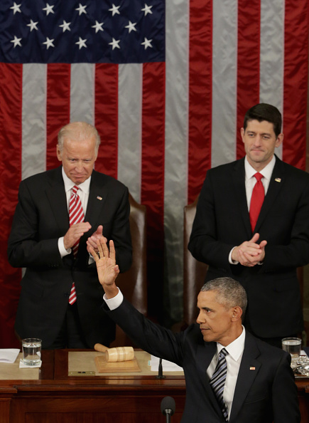 Alex Wong「President Obama Delivers His Last State Of The Union Address To Joint Session Of Congress」:写真・画像(9)[壁紙.com]