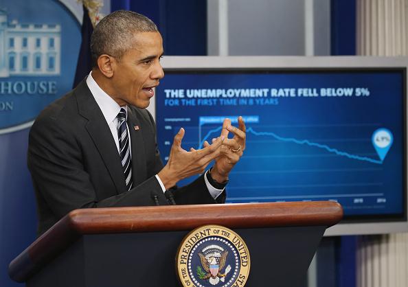 Economy「President Obama Speaks On The Economy In Brady Press Briefing Room」:写真・画像(9)[壁紙.com]