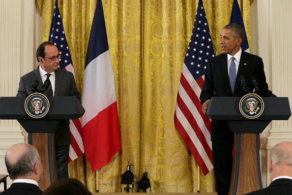 Chip Somodevilla「President Obama Meets With French President Hollande At The White House」:写真・画像(5)[壁紙.com]