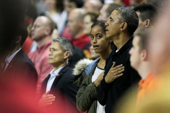 Oregon - US State「The Obama Family Watches U. Maryland v. Oregon State Basketball Game」:写真・画像(16)[壁紙.com]