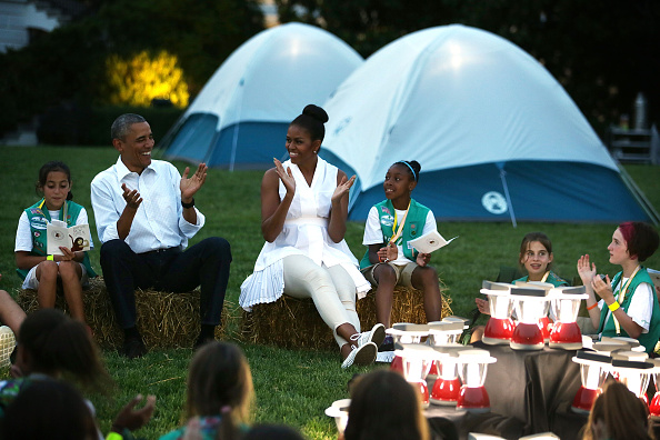 South Lawn「President, First Lady Host Girls Scouts At First-Ever White House Campout」:写真・画像(10)[壁紙.com]