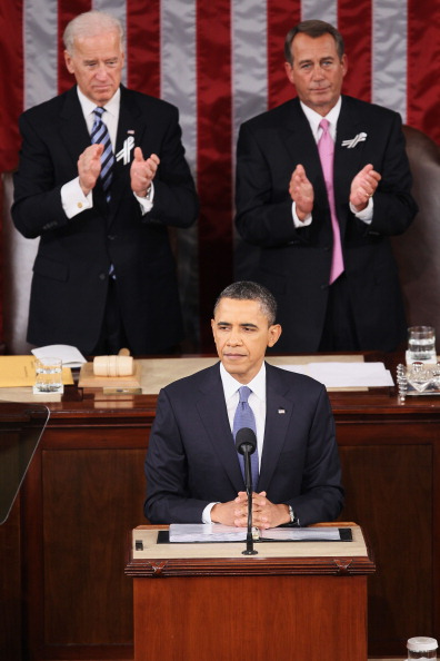Alex Wong「Obama Delivers State Of The Union Address To Joint Session Of Congress」:写真・画像(3)[壁紙.com]