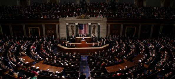 Joint Session of Congress「Obama Delivers State Of The Union Address To Joint Session Of Congress」:写真・画像(4)[壁紙.com]