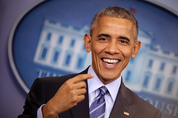 笑顔「President Obama Holds Year-End Press Conference At The White House」:写真・画像(9)[壁紙.com]