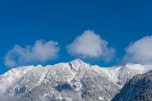 深い雪「Germany, Allgaeu, summits of Rubihorn Mountain and Gaisalphorn in winter」:スマホ壁紙(13)