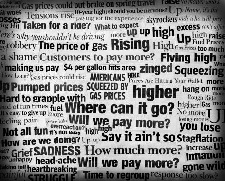 Greater Than Sign「soaring gas price headline collage」:スマホ壁紙(6)