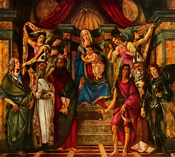 Jesus Christ「Madonna Enthroned With Six Saints」:写真・画像(6)[壁紙.com]