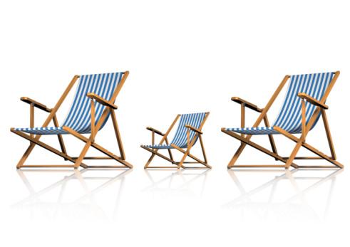 Deck Chair「Striped Deck Chairs on White Background」:スマホ壁紙(14)