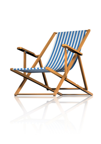Deck Chair「Striped Deck Chair on White Background」:スマホ壁紙(10)