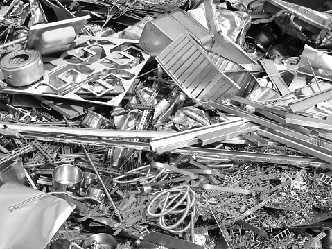 Recycling「Close up photo of silver color scrap metal and metal trash」:スマホ壁紙(14)