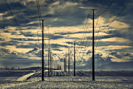 Colorado「Dramatic Clouds and Power Lines」:スマホ壁紙(19)