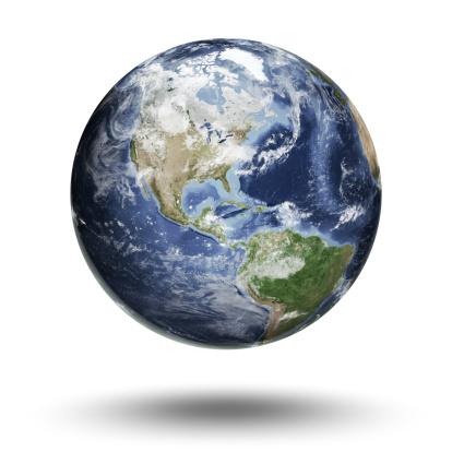 Clip Art「Earth - Americas Western Hemisphere」:スマホ壁紙(2)